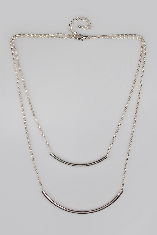 Ожерелье Дуо планкисРаспродажа Black Friday<br>Метал: гиппоаллергенный бижутерный сплав<br>