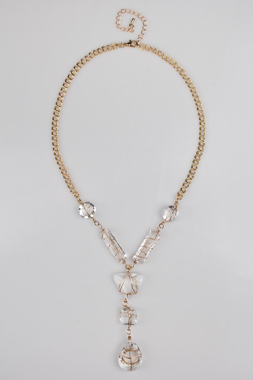 Ожерелье Кристалл-хатРаспродажа Black Friday<br>Метал: гиппоаллергенный бижутерный сплав<br>