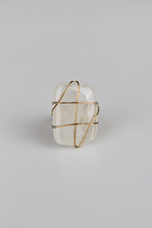 Кольцо КристаллМетал: гиппоаллергенный бижутерный сплав<br>