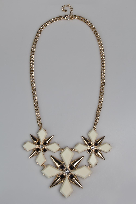 Ожерелье СноуфлэйксРаспродажа Black Friday<br>Гиппоаллергенный бижутерный сплав металлов, не содержащий никеля.<br>