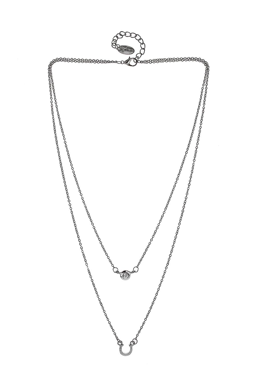 Ожерелье АйзиРаспродажа Black Friday<br>Метал: гиппоаллергенный бижутерный сплав, стекло<br>