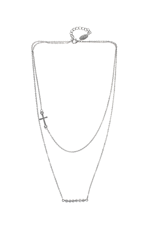 Ожерелье КристинаМетал: гиппоаллергенный бижутерный сплав, стекло<br>