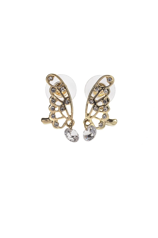 Серьги Весенние бабочкиПодарки на 8 марта<br>Метал: гиппоаллергенный бижутерный сплав, стекло<br>