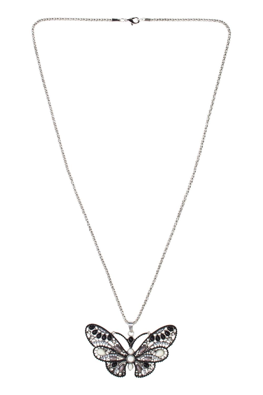 Кулон на цепочке Ночная бабочкаМетал: гиппоаллергенный бижутерный сплав металлов, не содержащий никеля, пластик.<br>