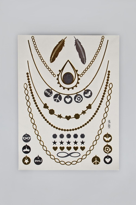 Набор тату-наклеек для тела Татус-17 плоттер для виниловых наклеек