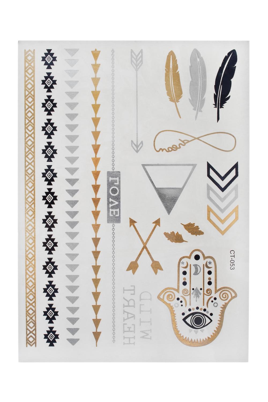 Набор тату-наклеек для тела Стрелы плоттер для виниловых наклеек