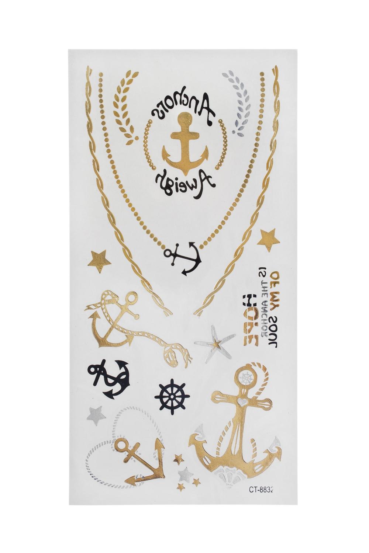 Набор тату-наклеек для тела ЯкорькиПодарки для женщин<br>Набор тату-наклеек для тела<br>