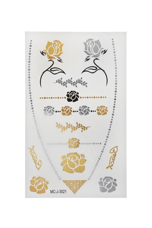 Набор тату-наклеек для тела РозыПодарки на день рождения<br>Набор тату-наклеек для тела<br>