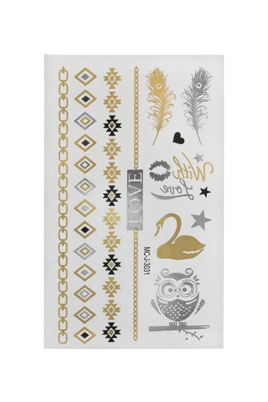 Набор тату-наклеек для тела Птицы набор наклеек животный мир насекомые и птицы н 1409