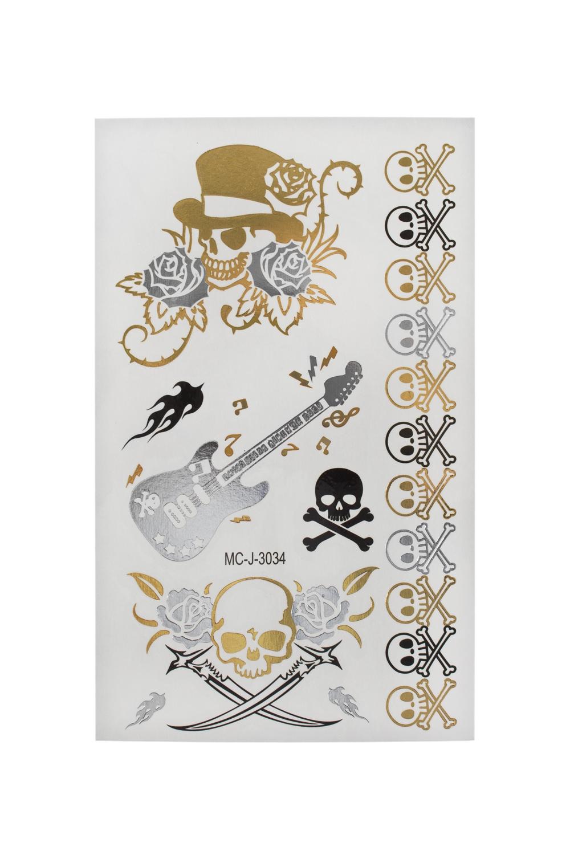 Набор тату-наклеек для тела ЧерепушкиПодарки для женщин<br>Набор тату-наклеек для тела<br>