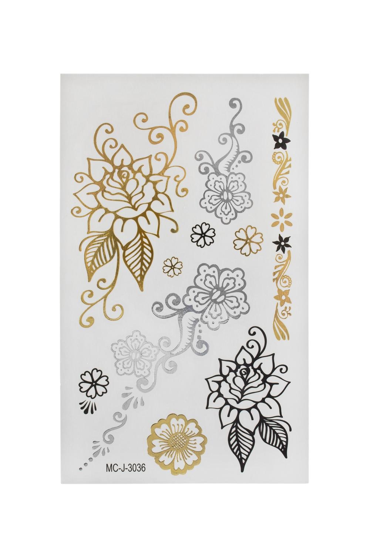 Набор тату-наклеек для тела Цветочные узоры плоттер для виниловых наклеек