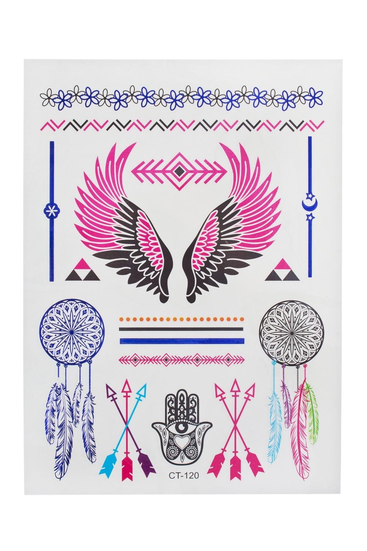 Набор тату-наклеек для тела КрыльяПодарки на день рождения<br>Набор тату-наклеек для тела<br>