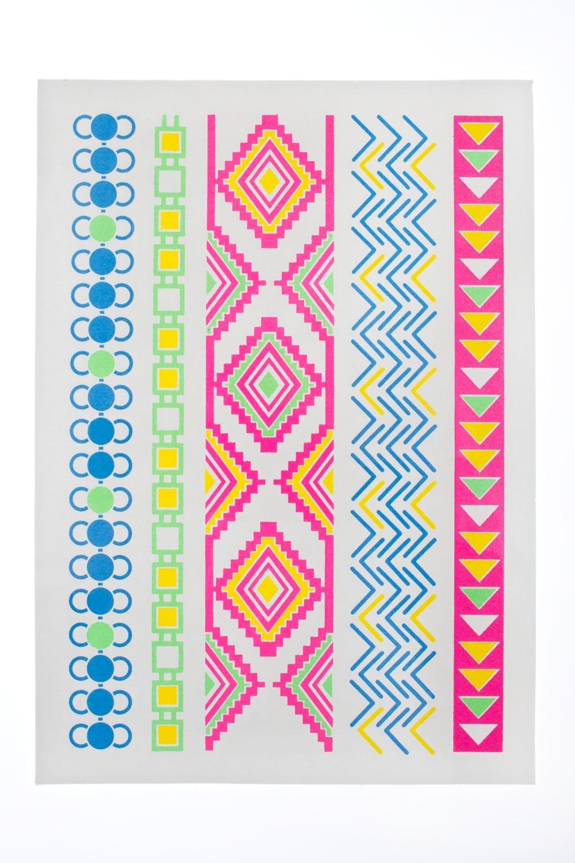 Набор тату-наклеек для тела АцтекПодарки на день рождения<br>Набор тату-наклеек для тела с неоновым эффектом<br>