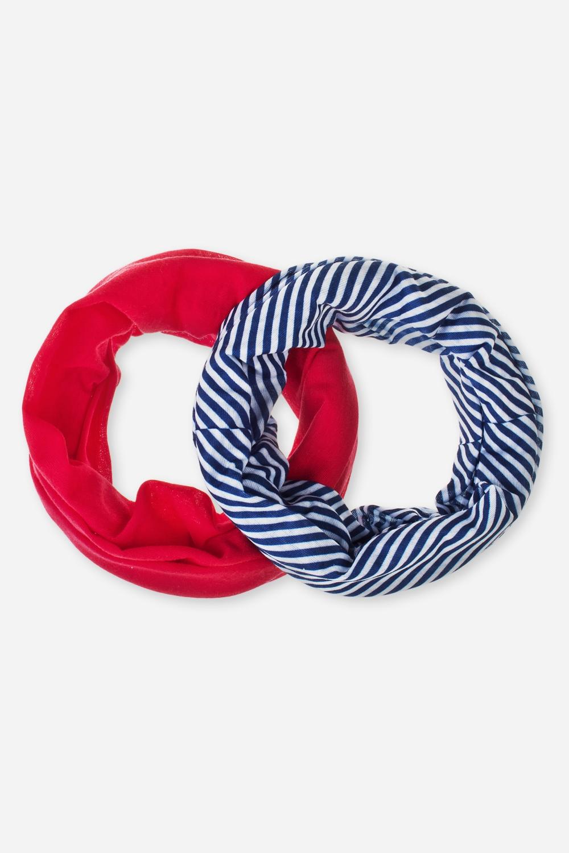 Набор повязок на голову СэйлорНабор многофункциональных повязок на голову, которые можно использовать как бандану, резинку для волос, шарф и т.д.  В наборе 2 шт. Состав - 100% полиэстер. Размер 24*49см<br>