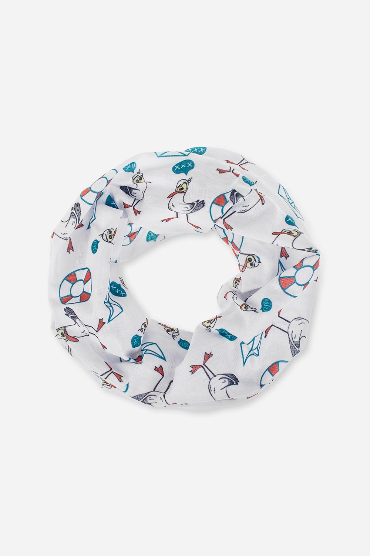 Повязка на голову Морские чайкиОдежда, обувь, аксессуары<br>Многофункциональная повязка на голову, которую можно использовать как бандану, резинку для волос, шарф и т.д.  Состав - 100% полиэстер. Размер: 24*49см<br>
