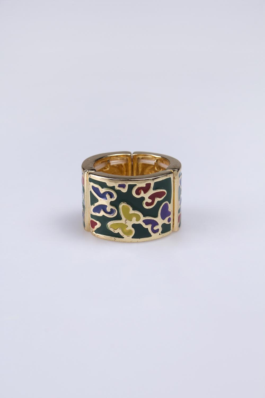 Кольцо Яркие бабочкиРаспродажа Black Friday<br>Метал: гиппоаллергенный бижутерный сплав металлов, не содержащий никеля.<br>