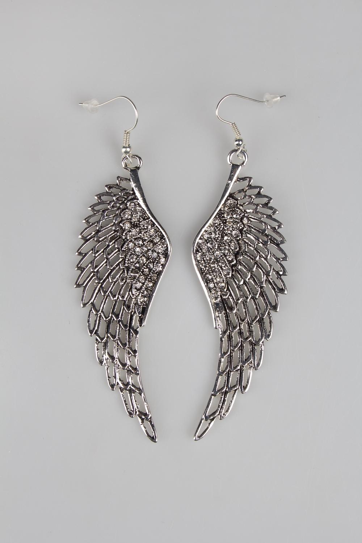 Серьги Крылья ангелаМеталл: гиппоаллергенный бижутерный сплав металлов, не содержащий никеля.<br>