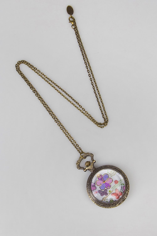Часы на цепочке БабочкиПодарки на 8 марта<br>Метал: гиппоаллергенный бижутерный сплав металлов, не содержащий никеля.<br>