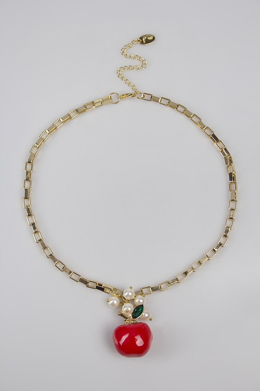 Ожерелье ЭпплОжерелья<br>Метал: гиппоаллергенный бижутерный сплав металлов, не содержащий никеля.<br>