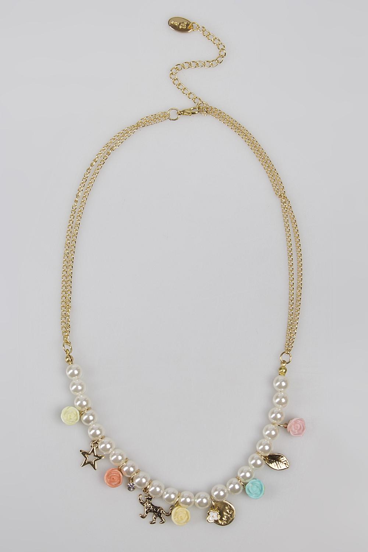 Ожерелье АфорсМетал: гиппоаллергенный бижутерный сплав металлов, не содержащий никеля.<br>