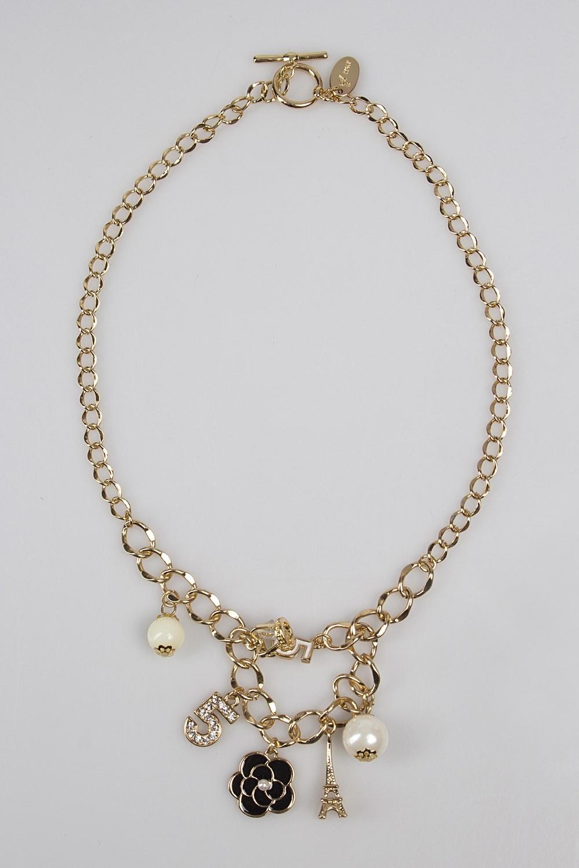 Ожерелье ПарижМетал: гиппоаллергенный бижутерный сплав металлов, не содержащий никеля.<br>