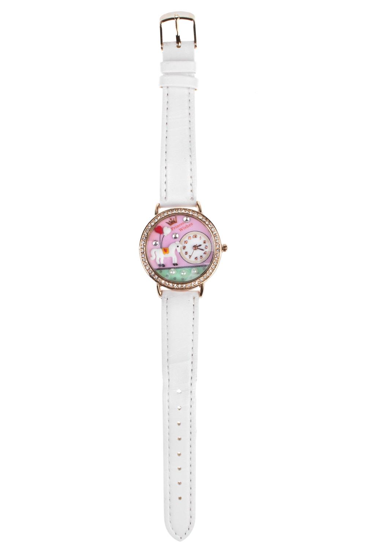 Часы  детские ЛошадкаИнтерьер<br>Материал: металл. Ремешок из искусственной кожи.<br>