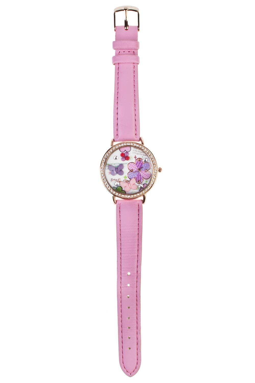 Часы  детские БабочкиИнтерьер<br>Материал: металл. Ремешок из искусственной кожи.<br>