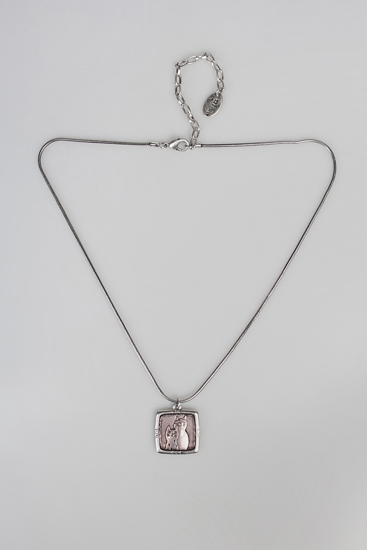 Кулон на цепочке КотыМеталл: гиппоаллергенный бижутерный сплав металлов, не содержащий никеля.<br>