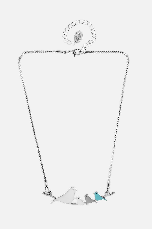 Ожерелье Птичья семейкаРаспродажа Black Friday<br>Метал: гиппоаллергенный бижутерный сплав<br>