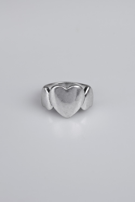 Кольцо Наши сердцаПодарки на 8 марта<br>Размер 17 металл<br>