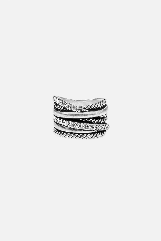 Кольцо Вместе навсегдаРаспродажа Black Friday<br>Размер 18 металл, стекло<br>