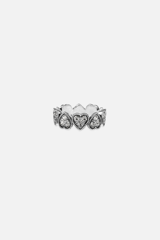 Кольцо СердечкиОдежда, обувь, аксессуары<br>Материал: бижутерный сплав<br>