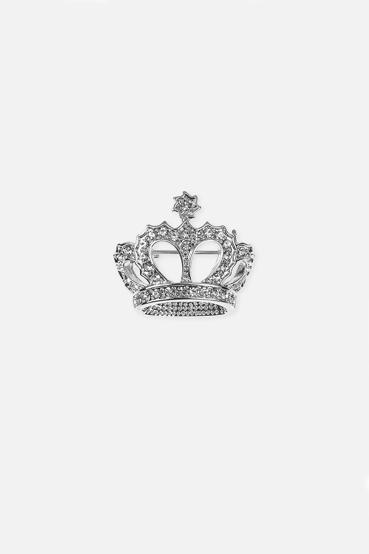 Брошь КоролевнаРаспродажа Black Friday<br>Метал: гиппоаллергенный бижутерный сплав<br>