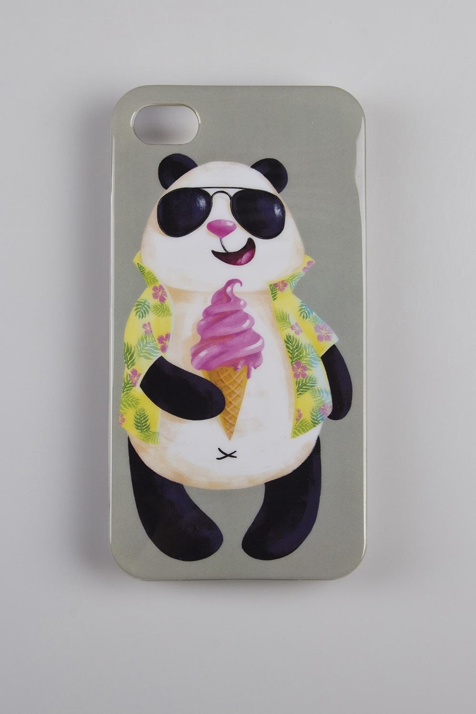 Чехол для iPhone 4/4S Панда в отпуске стоимость