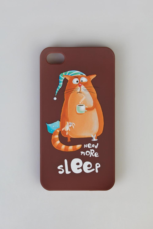 Чехол для айфона 4/4S Сонный кот