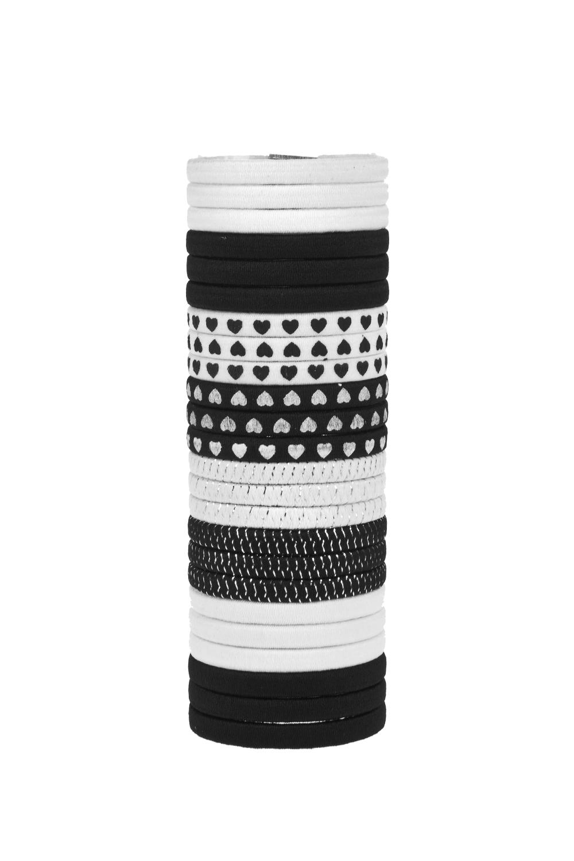 Набор резинок для волос МэниМатериал: пласт.  24-предм. в тубе<br>