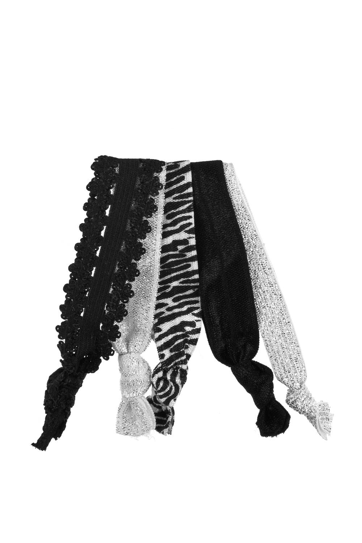 Набор резинок для волос Блэки стайлРаспродажа Black Friday<br>Материал: текстиль.  4-предм.<br>