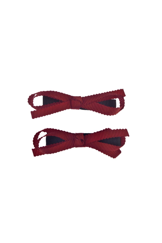Набор заколок для волос Притти боуМатериал: текстиль, металл. 2-предм.<br>