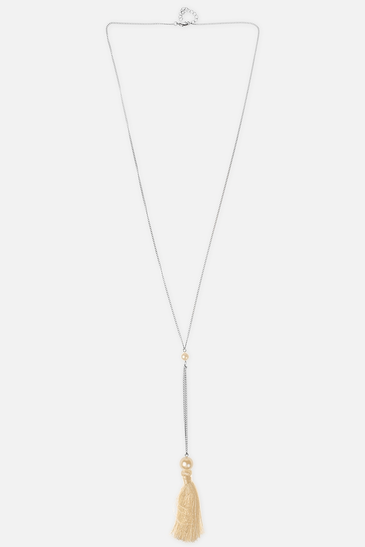 Ожерелье МоанаРаспродажа Black Friday<br>Метал: гиппоаллергенный бижутерный сплав металлов,  текстиль<br>