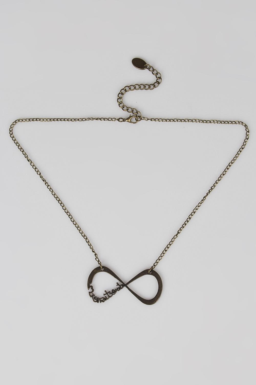 Ожерелье ИнфинитосМетал: гиппоаллергенный бижутерный сплав металлов, не содержащий никеля.<br>