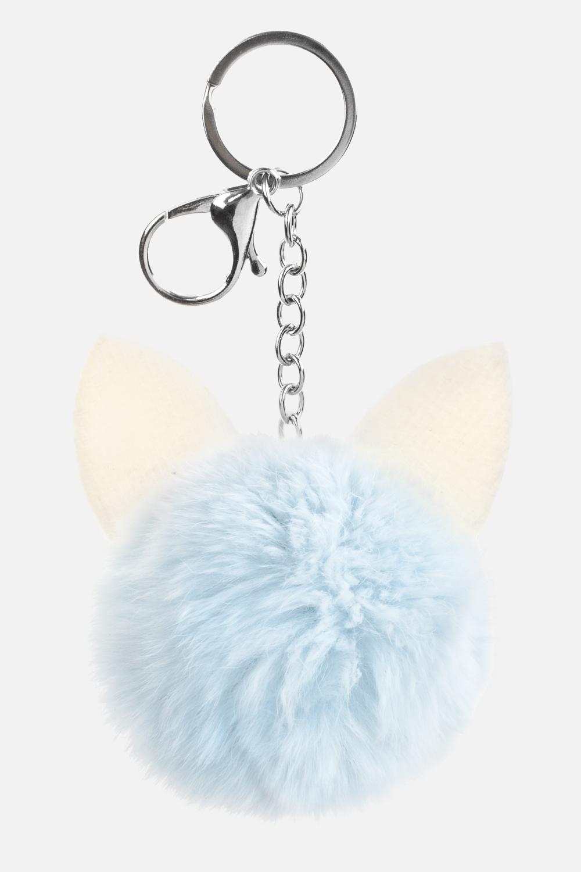 Брелок УшкиСувениры для женщин<br>Материал: натуральный мех кролика<br>
