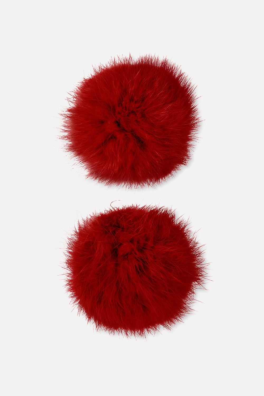 Набор помпонов для обуви ПомписНабор из двух помпонов на резинке. Материал: натуральный мех кролика. Возможно комбинировать цвета, используя помпоны из разных наборов.<br>