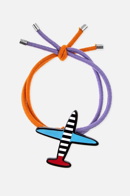 Резинка для волос СамолетикиМатериал: текстиль, пластик<br>