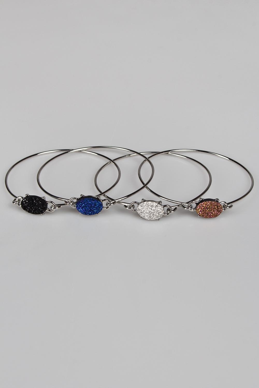 Набор браслетов ЛакиМетал: гиппоаллергенный бижутерный сплав<br>
