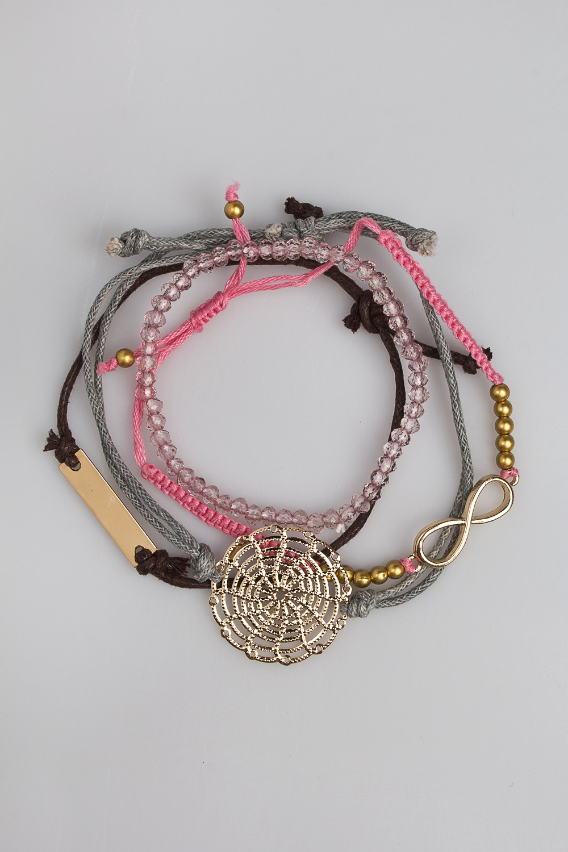 Набор браслетов НежностьМетал: гиппоаллергенный бижутерный сплав<br>
