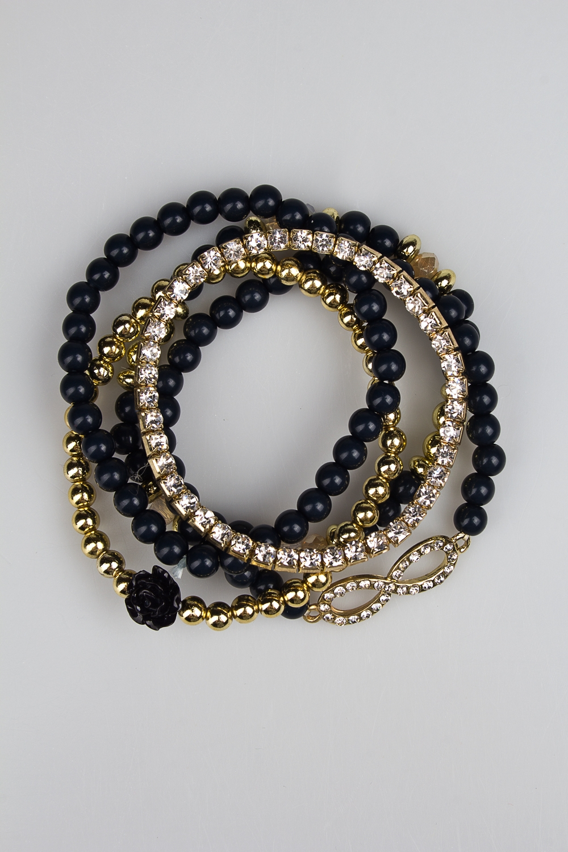 Набор браслетов ИнфиМетал: гиппоаллергенный бижутерный сплав<br>