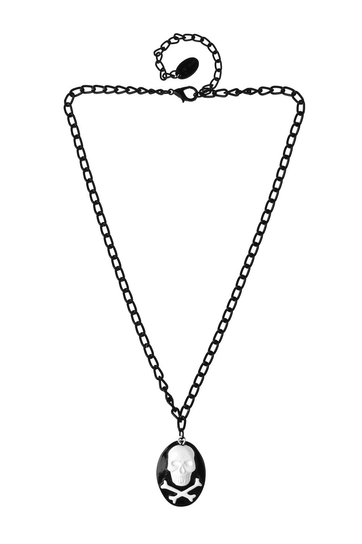 Кулон на цепочке СкелетонПодарки на Хэллоуин<br>Материал: металл, пластик<br>