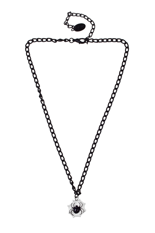 Кулон на цепочке ПаукПодарки на Хэллоуин<br>Материал: металл, пластик<br>