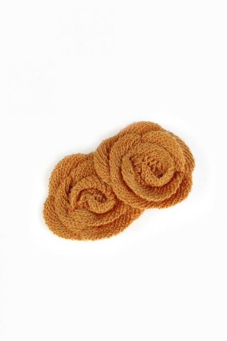 Заколка-автомат для волос Осенние цветыМатериал: металл, текстиль<br>