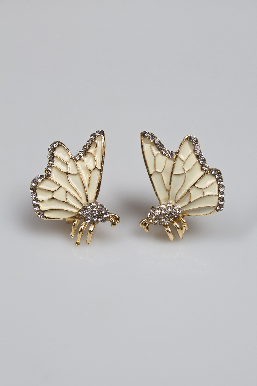 Серьги Две бабочкиМетал: гиппоаллергенный бижутерный сплав металлов, не содержащий никеля<br>
